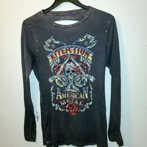 Affliction ''American metal'' tshirt size large